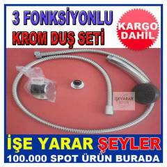FAT�H 3 FONKS�YONLU KROM DU� SET� HORTUM MAFSAL