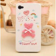 iPHONE 4/4S KILIF �N-ARKA KAPAK HAPPYMORI OZEL