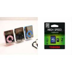 MP3 Player-Mp3 �alar + 2gb orjinal sd kart m�zik