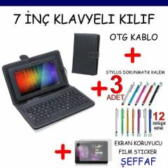 7 in� TABLET PC Klavyeli KILIF Stand SET