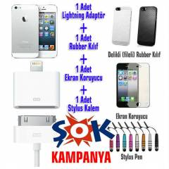 iPhone 5 5s K�l�f Ultra �nce Ve �evirici Adaptor