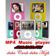 8 GB 1,8'' EKRAN MP3 MP4 M�Z�K PLAYER FM RADYO
