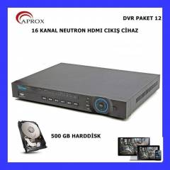 16 KANAL DVR HD G�R�NT�+500 GB HDD 3G VIN DESTEK
