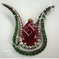 925 SILVER HATICE SULTAN BROOCH HAT�CE LALES� AG