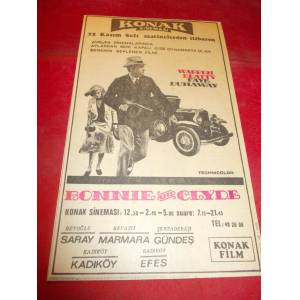 BONNIE AND CLYDE F�LM�  REKLAMI. 10 KASIM 1968
