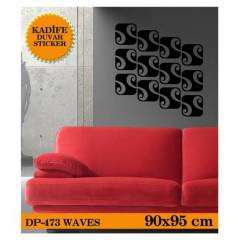 KAD�FE DUVAR STICKER WAVES 90x95 CM