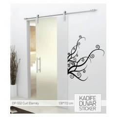 KAD�FE DUVAR STICKER CURL ETERNITY   112X130 CM