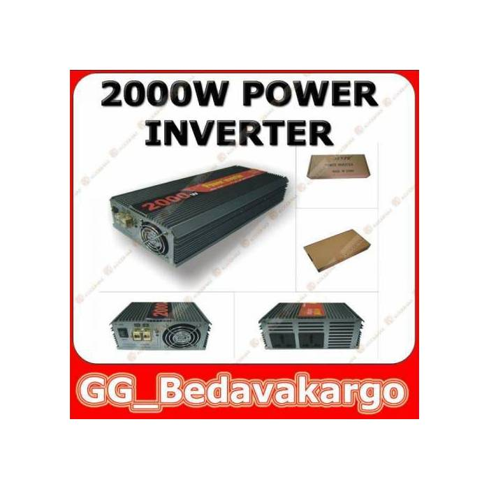 2000w Power �nvert�r + USB 12V to 220V a �evirir