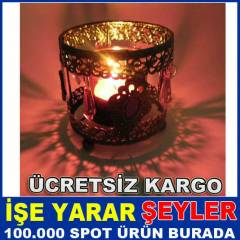 TA� ��L� ANT�K MODEL FERFORJE TEALIGHT MUMLUK KD