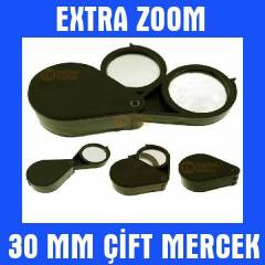Mini Kuyumcu B�y�teci Lup Mercek 30mm �iftli