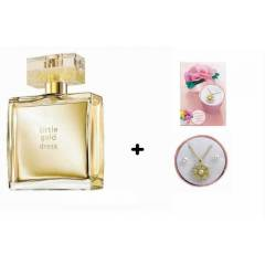 AVON  L�TTLE GOLD DRESS 50 ML+BLOSSOM TAKI SET�