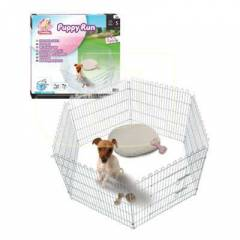 Flamingo Puppy Run Galvaniz Telli K�pek �iti 100