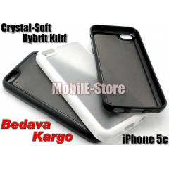 Apple iPhone 5c Hybrid Crystal TPU K�l�f+3xFilm