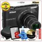 Nikon Coolpix S6500 16 MP 12x Zoom