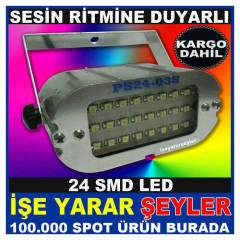 24 SMD FLASH LED SES KONTROLLU �AKAR FLA��R KD