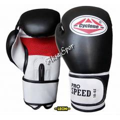Cyclone Pro Speed Boks & Kick-Box Eldiveni Siyah
