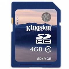 Kingston 4 GB SDHC Haf�za Kart� 4GB Class4 Orj.