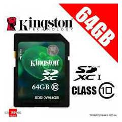 Kingston 64GB SDX Class10 SDXC Haf�za Kart� SDX1