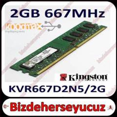 2 GB 667 MHZ DDR2 Kingston Pc Ram S�f�r Kutulu