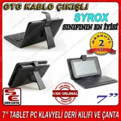 7'' TABLET PC KLAVYEL� DER� KILIFI VE �ANTA