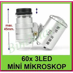 60x M�N� M�KROSKOP 3 LED AYDINLATMALI boy: 45mm.