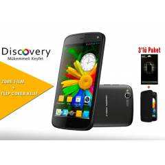 General Mobile Discovery 16gb  Flip Cover+Film