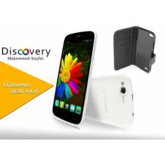 General Mobile Discovery 16gb Beyaz+Deri K�l�f