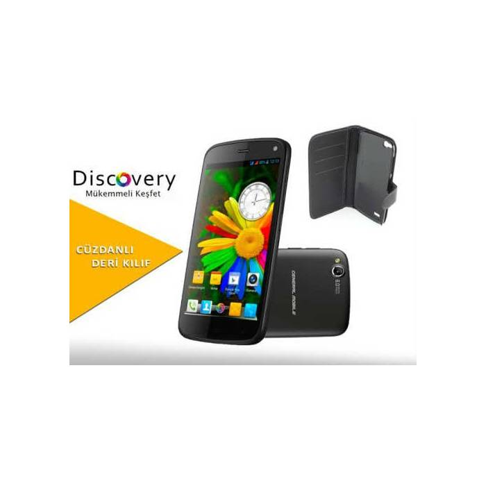 General Mobile Discovery 16gb Siyah+Deri K�l�f