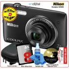 Nikon Coolpix S3500 20 MP 7x Zoom