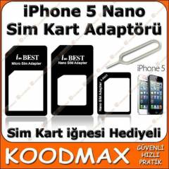 iPhone 5 Nano Sim Kart Adapt�r�
