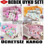 8 MODEL SE�ENE�� �LE BEBEK UYKU SET�_COTTON BOX