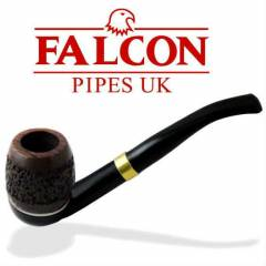 FALCON Pipo Bent Black Metal 6mm + billiard