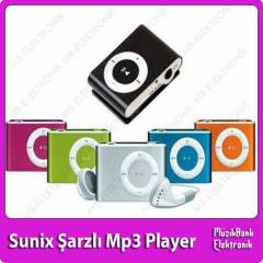 Mini �arzl� Mp3 Player Sunix 2 Y�l Garanti