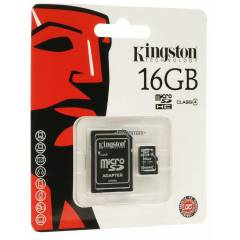 K�NGSTON 16 GB HAFIZA KARTI Class4 +ADAPT�R �OK