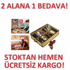 Ayakkab� Saklama �antas� 12 B�lmeli Shoes Under