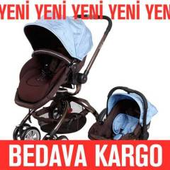 Kraft Twist Premium Travel Bebek Arabas� Mavi