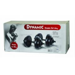 DYNAMIC  20 KG VINYL DUMBBELL SET