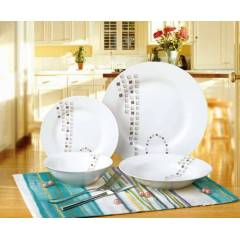 24 Par�a New Bone China Yemek Tak�m�