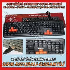 VERSAT�LE LAPTOP NOTEBOOK USB OYUN KLAVYES�