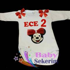 K�z �ocuk 1 Ya� Do�um g�n� HED�YES� Minnie Mouse