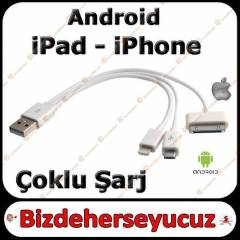 iPHONE 4/4S/5/5S/5C SAMSUNG USB �ARJ DATA KABLO
