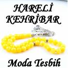HAREL� SARI RENK KEHR�BAR TESB�H 8X8mm