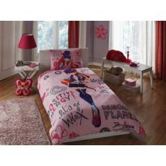 Ta� Lisansl� Nevresim Tak�m� WINX HOLIDAY BLOOM