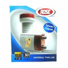 ROSE 0.1dB Twin �iftli LNB FULL HD - 3D Uyumlu