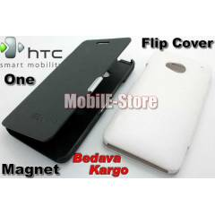 HTC One M7 Slim M�knat�s Flip Cover K�l�f+3xFilm