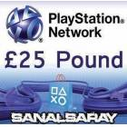 25 � PLAYSTATION NETWORK 25 POUND PSN UK KART