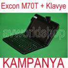 "Excon M70t 8GB 7"" Tablet Pc +Klavyeli K�l�f,2Ka"
