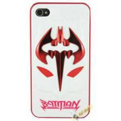iPhone 4 Batman Kapak | K�rm�z� Beyaz