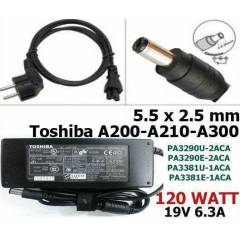 Toshiba Laptop Adapt�r� 19v 6.32a 120 Watt