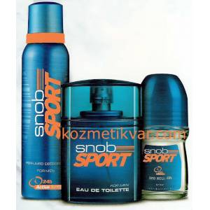 Snob Sport Set 3L� 100ML EDT+Deo+Rollon